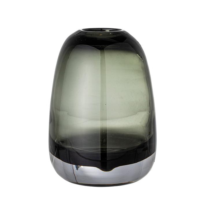 Adjo Vase en verre H 17,5 cm de Bloomingville en gris