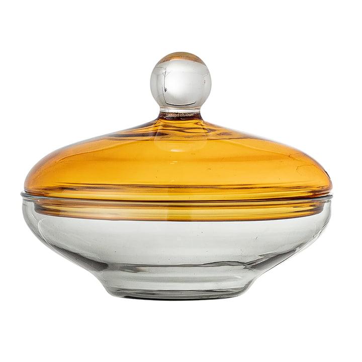 Danni Bonbonnière, h 8 cm, jaune / clair de Bloomingville