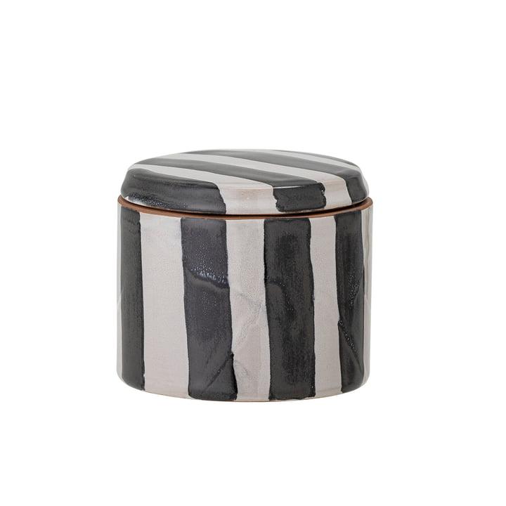 Serina Boîte de rangement, h 7,5 cm, noir / blanc de Bloomingville