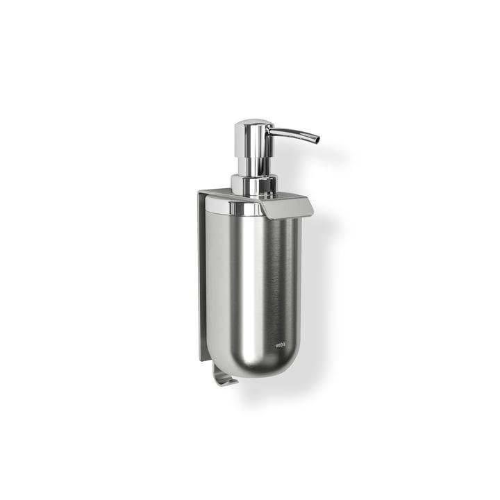 Junip Distributeur de savon (mural) de Umbra en acier inoxydable (simple)