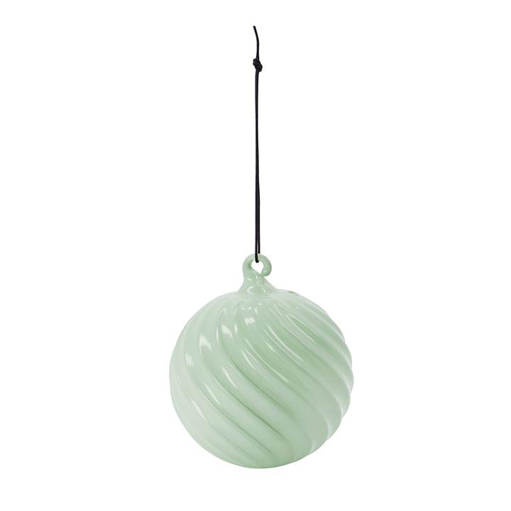Glassy boule de sapin de Noël de House Doctor dans la couleur vert poussiéreux