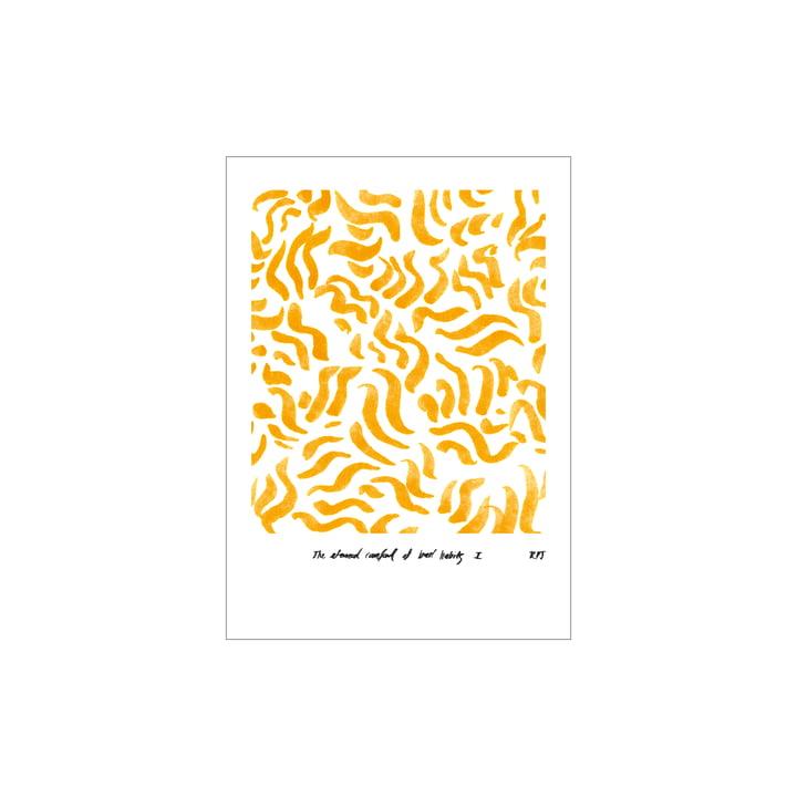 Comfort Poster 30 x 40 cm de Paper Collective , jaune