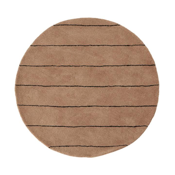 Striped Tapis Ø 120 cm de OYOY en choco
