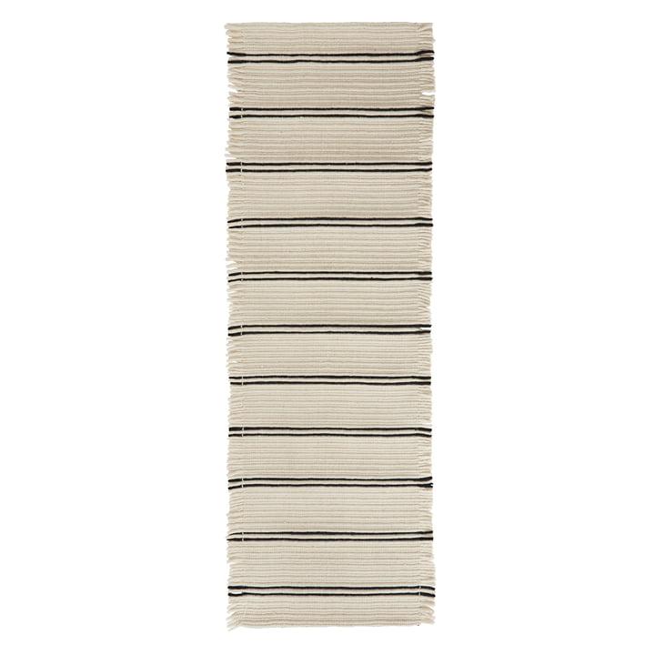 Putki Tapis 250 x 73 cm de OYOY en blanc cassé / noir