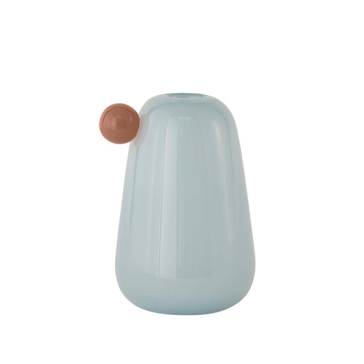 Inka Vase Small, H 20 cm par OYOY en bleu glacier