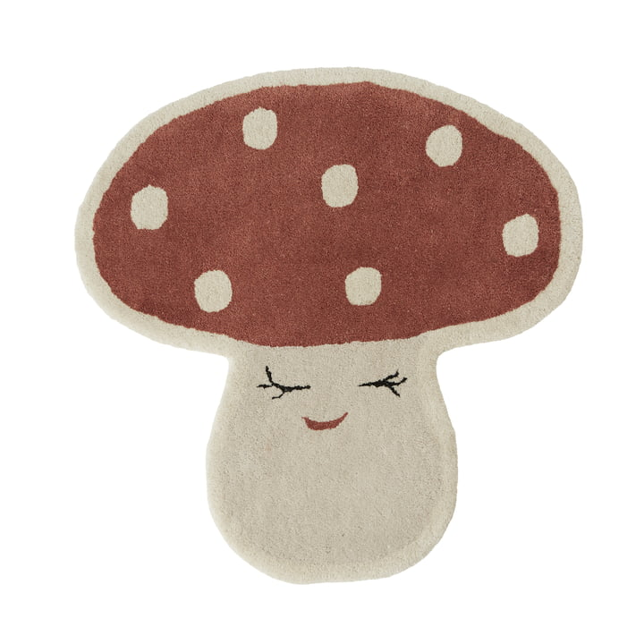 Malle Mushroom Tapis pour enfants de OYOY en rouge