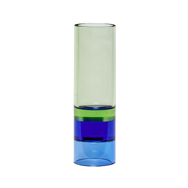 Porte-bougie à réchaud / vase en cristal, vert / bleu par Hübsch Interior