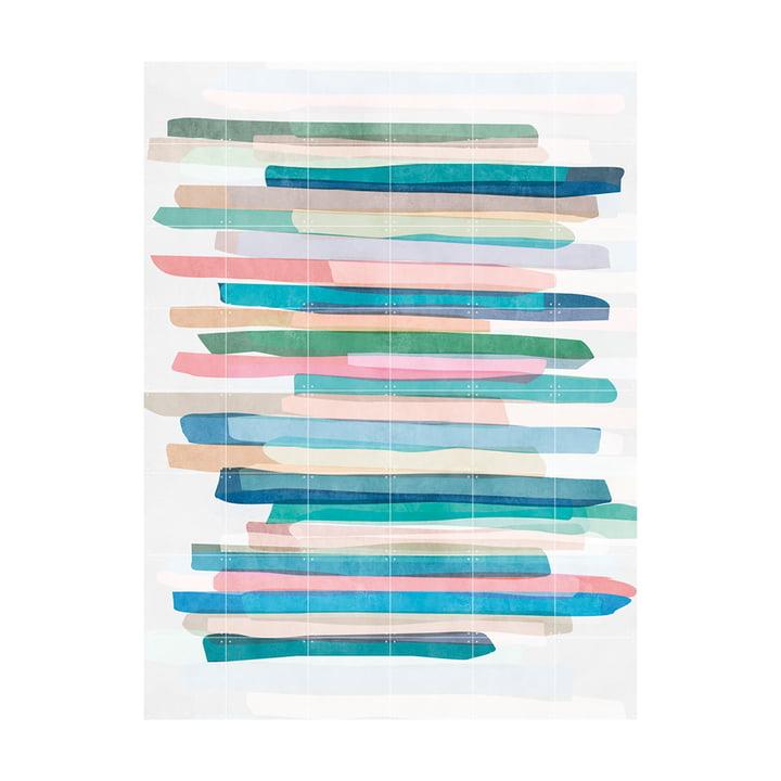 Pastel Stripes Murale réalisée par IXXI