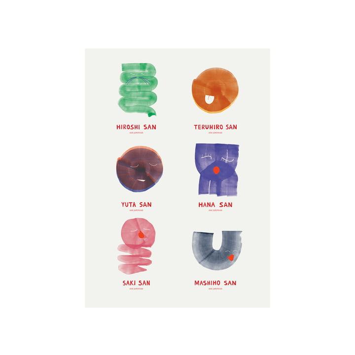 Amis Japonais Poster 50 x 70 cm de Paper Collective