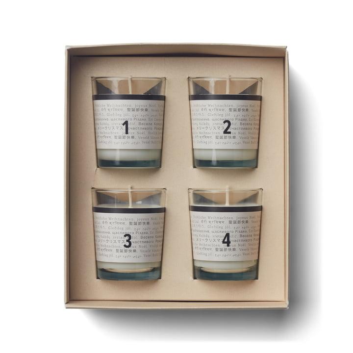Bougies parfumées de l'Avent, advent calendar (lot de 4) par Humdakin