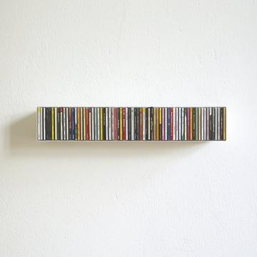 étagère linea1 b _ CD en blanc pour 67 CD