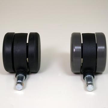 Roulettes de rechange pour le fauteuil de bureau pivotant Vitra MedaPal