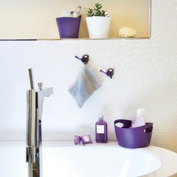 Baquet Bottichelli de Koziol, rangement sur la baignoire