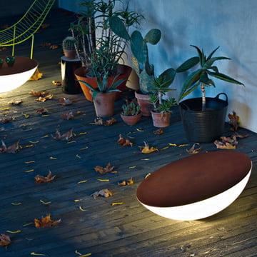 Lampadaire solaire Foscarini d'extérieur en marron