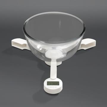 Joseph Joseph - Balance pliable TriScale, blanc - avec récipient