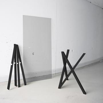 Hans Hansen - tréteaux Mika-Set, noir