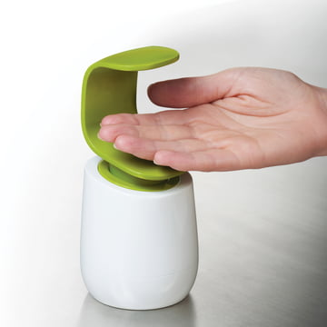 Joseph Joseph - Distributeur de savon C-pump, blanc/vert - Utilisation