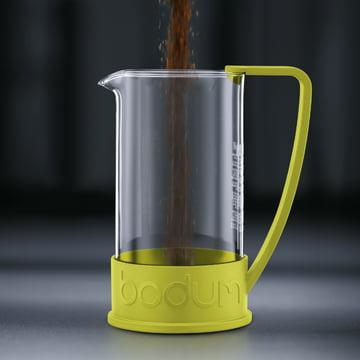 Bodum - Cafetière à piston Brazil, 1,0 l, citron vert - préparation 1