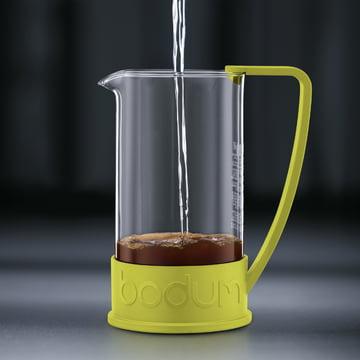 Bodum - Cafetière à piston Brazil, 1,0 l, citron vert - préparation 2