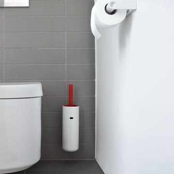 Authentics - Brosse WC murale Lunar, rouge