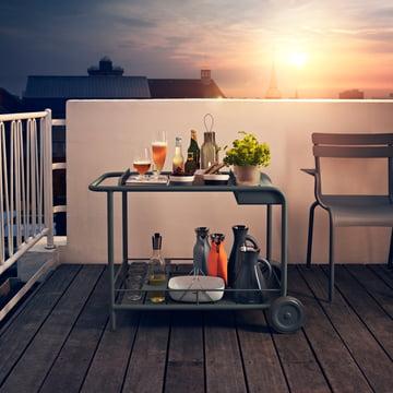 Eva solo - photo de groupe - coucher de soleil, toit-terrasse