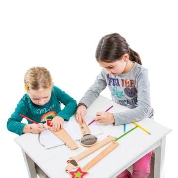 Donkey Products - Règles en bois Funky Rulers - avec enfants