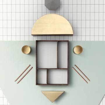 ferm Living - Porte-papiers Brass Semicircle