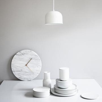 Menu - Marble Horloge murale, blanc