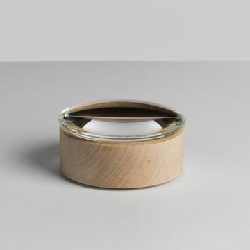 Hay - Lens Box / couvercle, Ø 10 cm, érable, verre