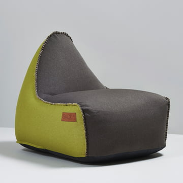 Sack it - Fauteuil Retro it Indoor, marron/citron vert