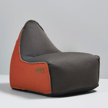 Sack it - Fauteuil Retro it Indoor, marron/orange