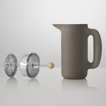 Muuto - Cafetière Push, gris pierre, sans insert