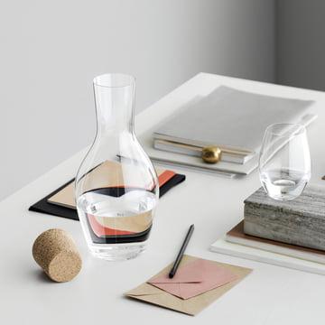 Holmegaard - Carafe d'eau Cabernet avec bouchon sur la table
