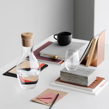 Holmegaard - Carafe à eau Cabernet en verre avec bouchon