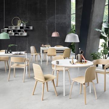 Muuto Base table de salle à manger avec chaises