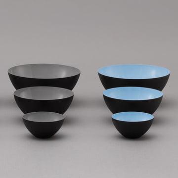 Normann Copenhagen - Bol Krenit, gris, bleu clair