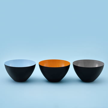 Normann Copenhagen - Bol Krenit, bleu clair, orange, gris
