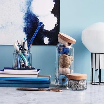 Rosendahl - Grand Cru bocaux en verre avec couvercle en chêne