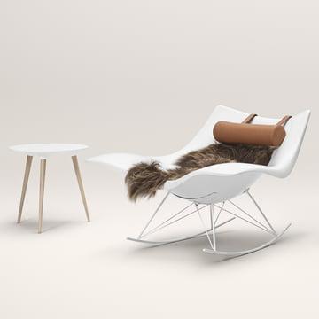 Stingray rocking chair par Fredericia en gris
