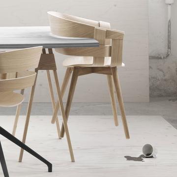 La Wick Chair Wood et le bureau Arco
