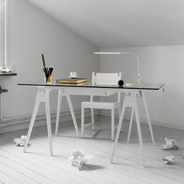 Bureau Arco en blanc