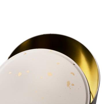 Boîte de rangement Confetti de ferm Living en crème