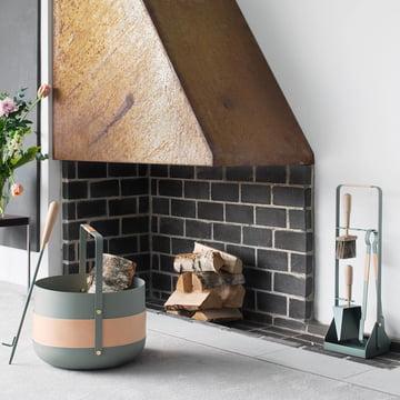 Accessoires de cheminée, panier et chalumeau d'Eldvarm
