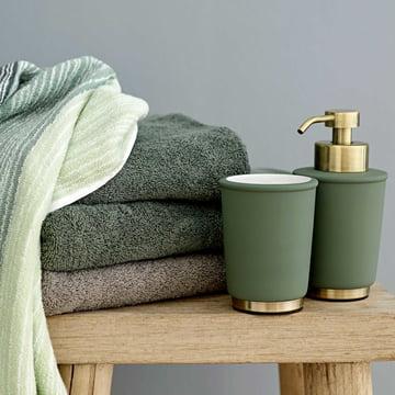 Distributeur de savon et gobelet pour brosses à dents Touch de Södahl