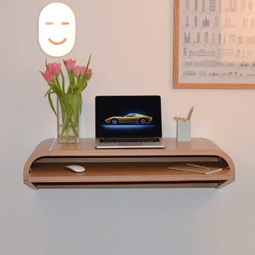 Charles & Marie - Wall Desk, petit format, chêne