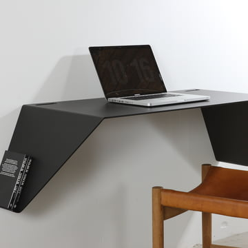 Nichba Design - Bureau mural Desk01, noir