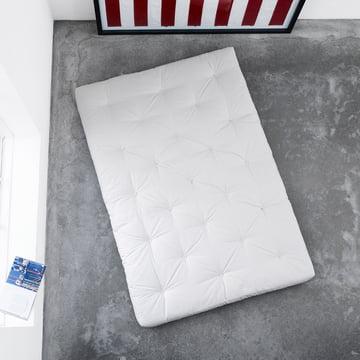 Matelas futon de Karup avec revêtement en blanc