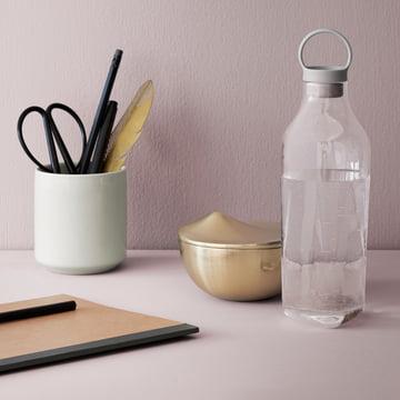 Circle water bottle, Peak bowl with lid and Core vacuum mug