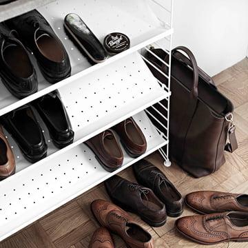 Rangement à chaussures de String en blanc