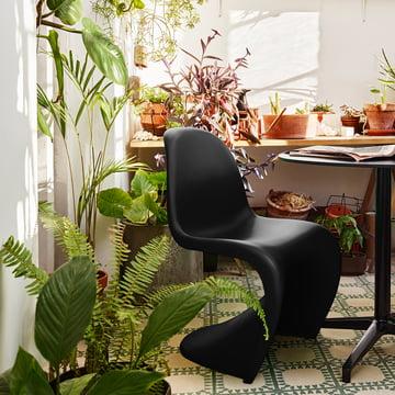 Chaise Panton Vitra de Vitra en noir foncé basique